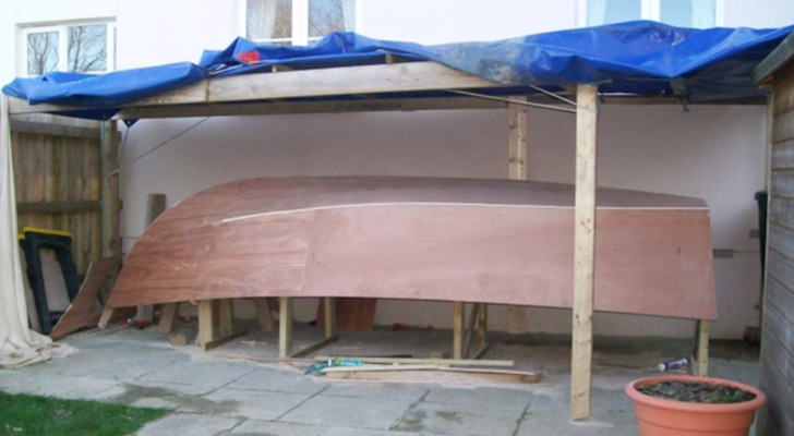 DIY plywood boat