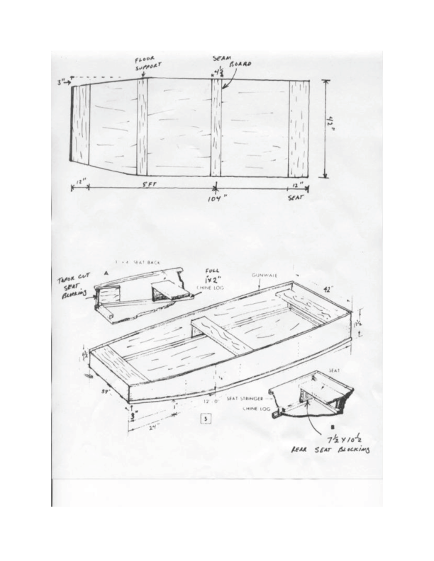 Flat bottomed boat plans