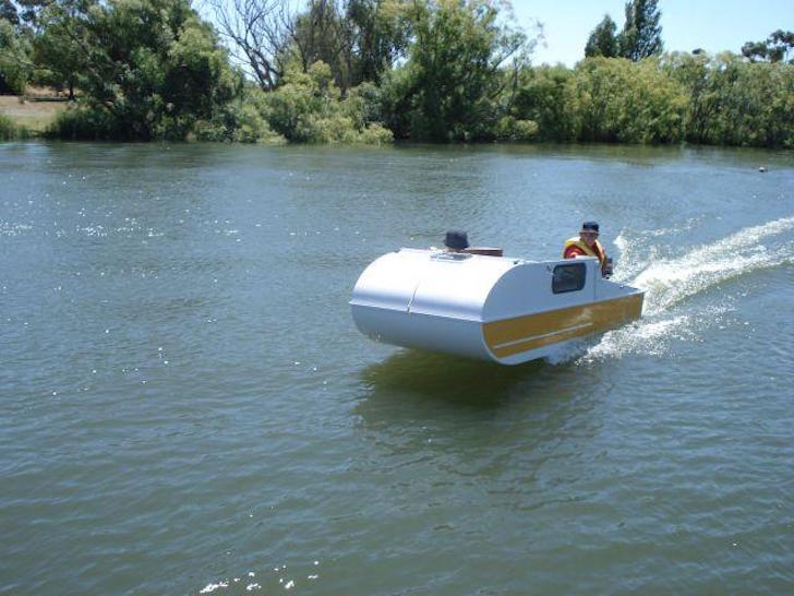 Portable Boat Covers : When you see this tiny diy boat camper ll love it