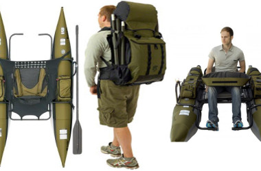Portable Bozeman Pontoon Boat Fits in a Backpack for Those Hard To Reach Fishing Holes