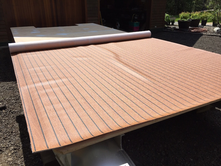 This aging pontoon boat got a fabulous diy upgrade vinyl floor topping solutioingenieria Image collections